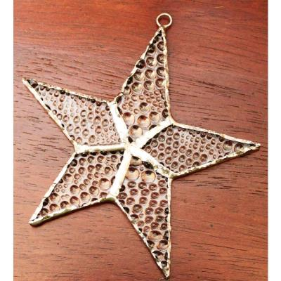 Memorial Holiday Stained Glass Star