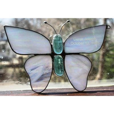 Memorial Stained Glass Butterfly